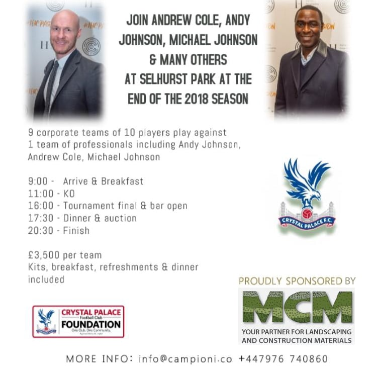MCM Campioni Corporate Football Tournament flyer bottom