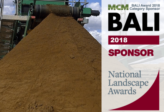 MCM return as BALI National Landscape Award Sponsor 2018