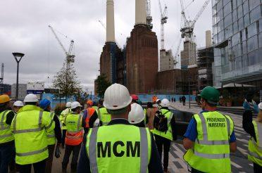 Celebrating success at BALI Tour of Battersea Power Station