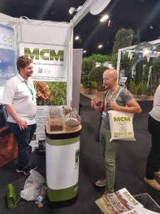 Anthony from MCM at Landscape Show 2018