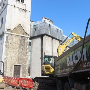 Site preparations and waste removal at St Paul's Cathedral School