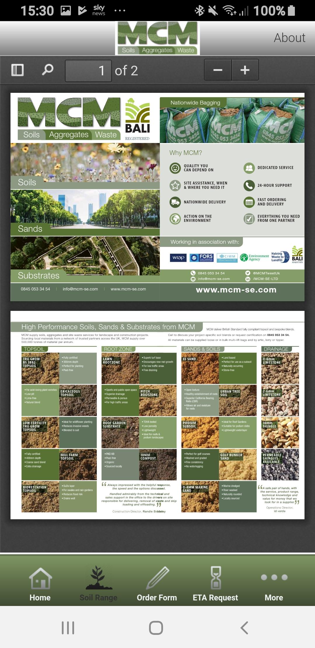 MCM OnTheGo Soil Leaflet on App