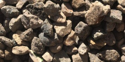 4-40mm crushed concrete from recycled materials.