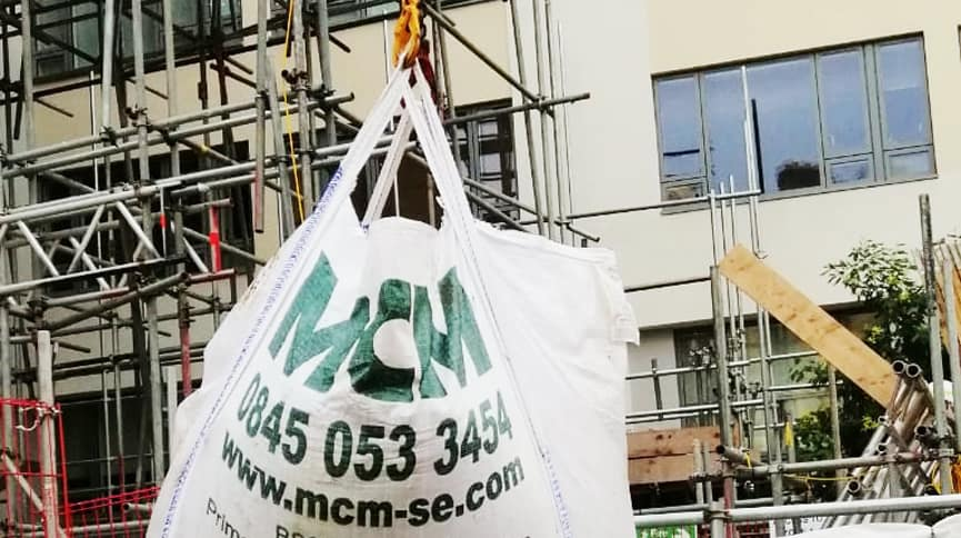MCM Bagged Soil and Aggregates on site